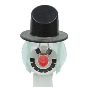 PEZ - Crystal Collection - Snowman - Clear Crystal Head, Black Hat - C