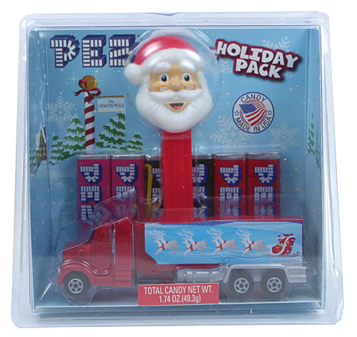 PEZ - Christmas - Santa Holiday Pack - Red Truck