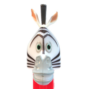 PEZ - Madagascar - Marty - Small Pupils, Light Grey Snout, painted ears