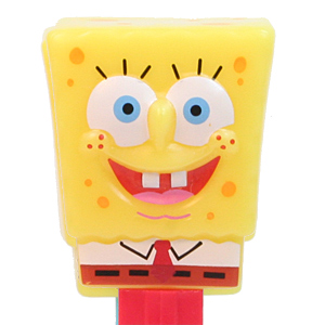 PEZ - SpongeBob SquarePants - SpongeBob in Shirt - yellow head, front shirt, dark cheesy spots