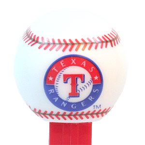 PEZ - Sports Promos - MLB Balls - Ball - Texas Rangers