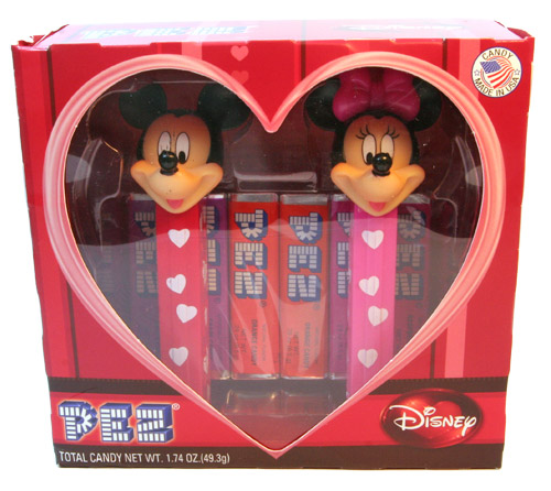 PEZ - Collectors Set - Collectors Set - Mickey and Minnie Heart Set