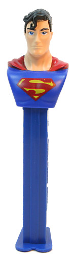 PEZ - Justice League - Superman - dull logo, long eyebrow - A