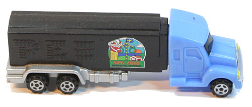 PEZ - Swedish Pez Gathering - 2010 - Truck with V-Grill - Blue truck, black stem