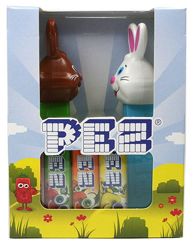 PEZ - Easter - Bunny Brown and White - Twinpack