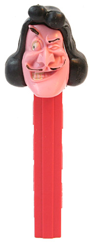 PEZ - Disney Classic - Peter Pan - Captain Hook - Pink Face