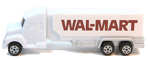 PEZ - Advertising Walmart 1981 - Truck with V-Grill - White cab, white trailer