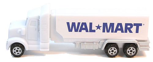 PEZ - Advertising Walmart 1992 - Truck - White cab, white trailer
