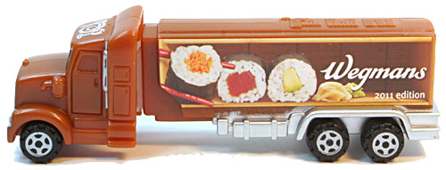 PEZ - Advertising Wegmans - Truck - Brown cab, sushi