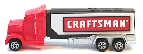PEZ - Advertising Craftsman - Truck - Orange cab, white trailer