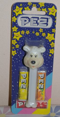 PEZ - Miscellaneous - Icee Bear - White Head, Ivory Face, No Mark, Smooth Eyes