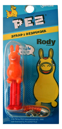 PEZ - Mini PEZ - Rody with Strap - Rody with Strap - Orange