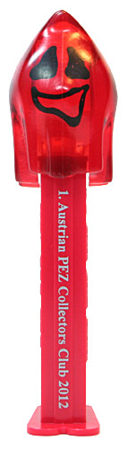 PEZ - 1. Austrian PEZ Collectors Club - Naughty Neil - Crystal Red