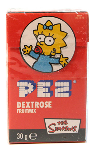 PEZ - Dextrose Packs - Simpsons Maggie