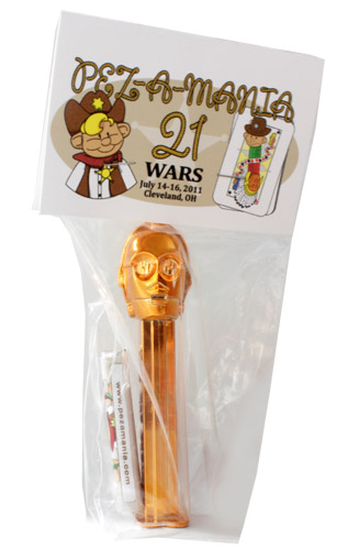 PEZ - Convention - PEZAMANIA - 2011 - C-3PO - Metallic Gold Head
