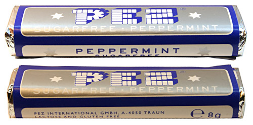 PEZ - Recent Types - Sugarfree - Peppermint Sugarfree - 2 lines