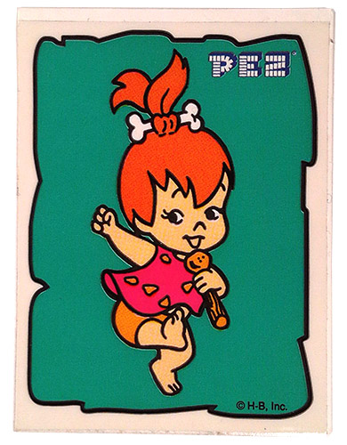 PEZ - Flintstones - Small Single Border - Pebbles Flintstone