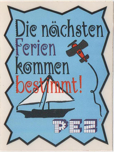 PEZ - Stickers - School - Die Ferien