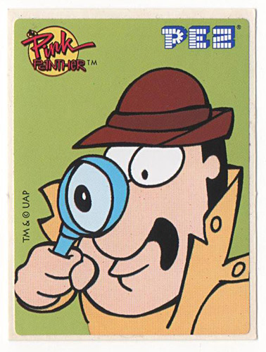 PEZ - Stickers - Pink Panther - Inspector with big eye