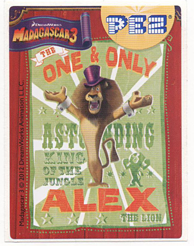 PEZ - Stickers - Madagascar 3 - Poster of Alex