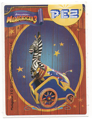 PEZ - Stickers - Madagascar 3 - Marty in chariot