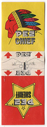 PEZ - Stickers - Sticker Doubles (1970s) - Square - Chief/Sheriff