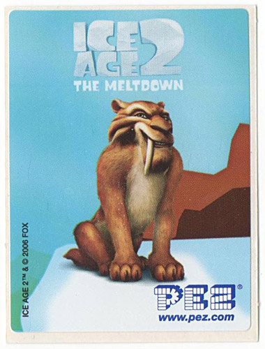 PEZ - Stickers - Ice Age 2 - Diego