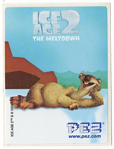 PEZ - Stickers - Ice Age 2 - Sid