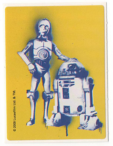 PEZ - Stickers - Star Wars Clone Wars - C-3PO and R2-D2