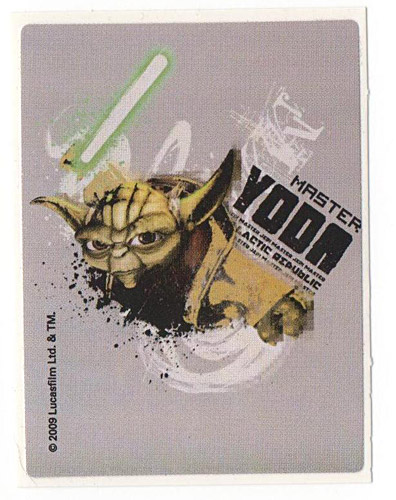 PEZ - Stickers - Star Wars Clone Wars - Yoda