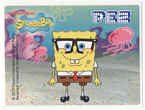 PEZ - SpongeBob SquarePants - 2010 - SpongeBob with glasses