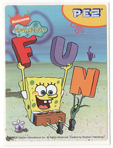 PEZ - Stickers - SpongeBob SquarePants - 2008 - SpongeBob FUN