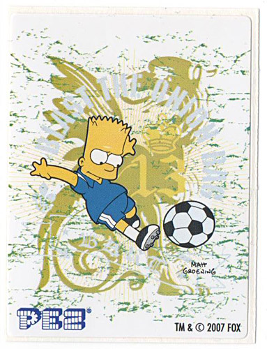 PEZ - Stickers - The Simpsons - 2007 - Bart Simpson soccer