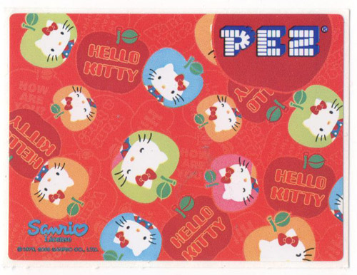PEZ - Stickers - Hello Kitty - 2008 - Apple with sayings