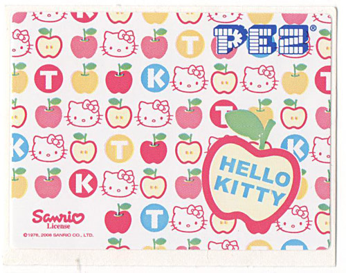 PEZ - Stickers - Hello Kitty - 2008 - Apple colored