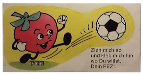 PEZ - Stickers - Crazy Fruits - Apple soccer