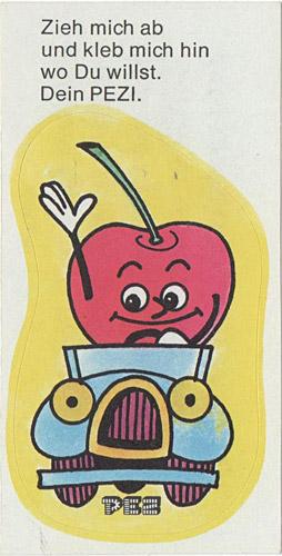 PEZ - Stickers - Crazy Fruits - Cherry driving