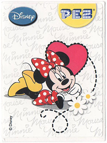 PEZ - Stickers - Mickey & Minnie - Minnie - laying