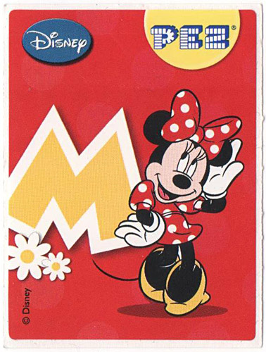 PEZ - Stickers - Mickey & Minnie - Minnie - M