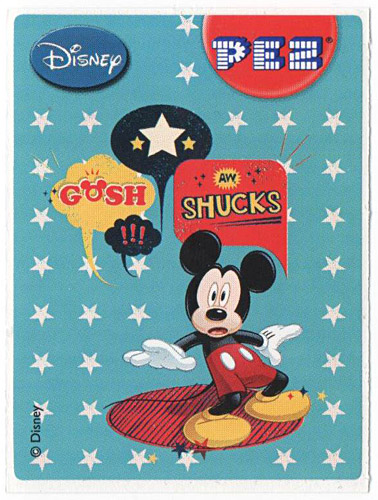 PEZ - Stickers - Mickey & Minnie - Mickey - gosh shucks