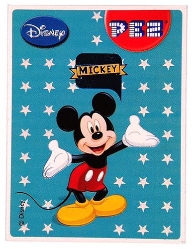 PEZ - Stickers - Mickey & Minnie - Mickey - stars