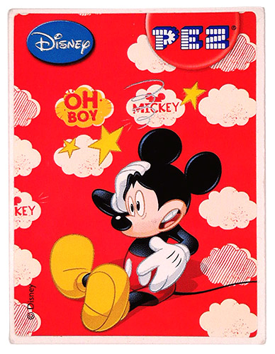 PEZ - Stickers - Mickey & Minnie - Mickey - oh boy
