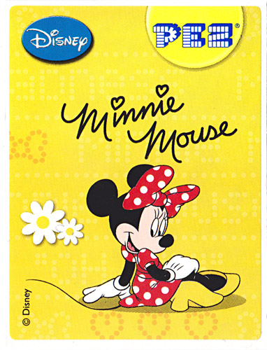 PEZ - Stickers - Mickey & Minnie - Minnie - sitting