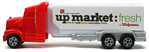 PEZ - Advertising Walgreens - Truck - Red cab, white truck - up market:fresh