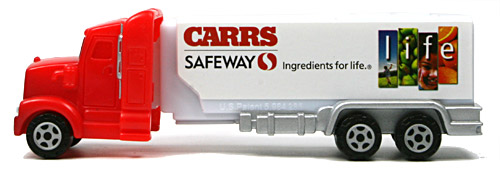PEZ - Advertising Safeway - Truck - Red cab, white truck - Carrs