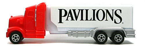 PEZ - Advertising Safeway - Truck - Red cab, white truck - Pavilions