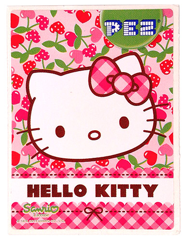 PEZ - Stickers - Hello Kitty - 2013 - Big Head