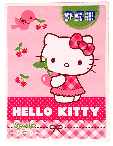 PEZ - Stickers - Hello Kitty - 2013 - Standing with bird