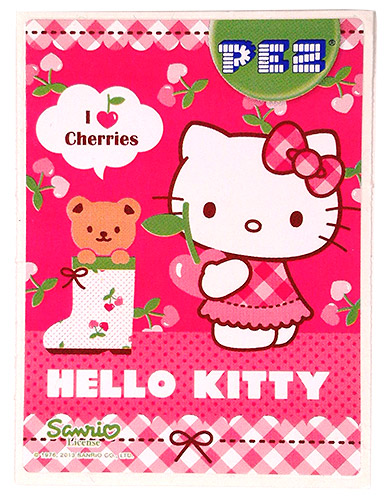PEZ - Stickers - Hello Kitty - 2013 - Standing with Teddy Bear