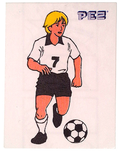 PEZ - Stickers - Soccer - Dribbling